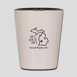 Personalized Michigan Heart Shot Glass