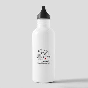 Personalized Michigan Heart Water Bottle