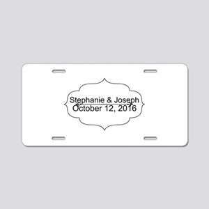 Elegant Wedding Name and Date Custom Aluminum Lice