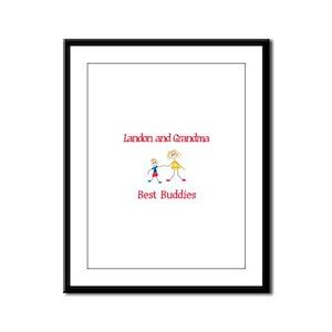 Landon & Grandma - Buddies Framed Panel Print