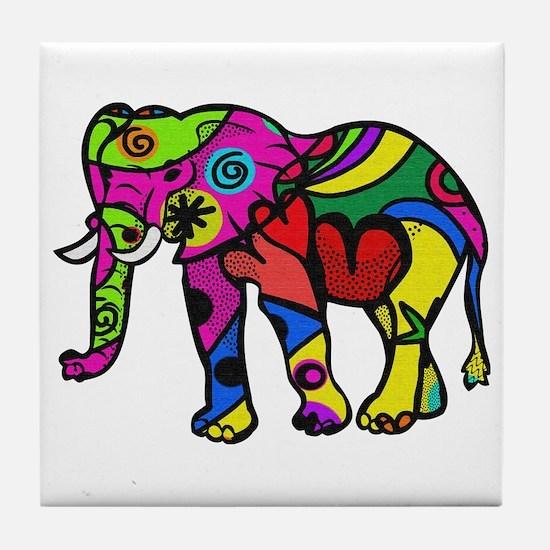 Unique Hippy Tile Coaster