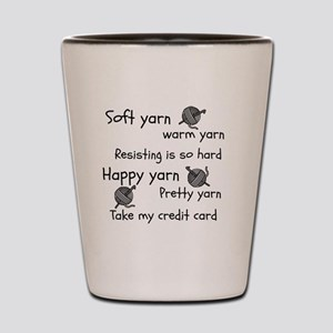 Soft Yarn, Warm Yarn Crochet Shot Glass