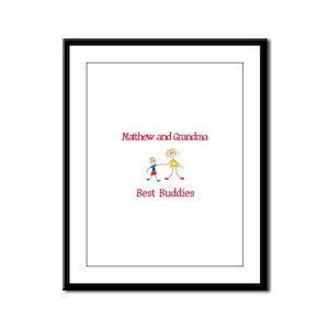 Matthew & Grandma - Buddies Framed Panel Print