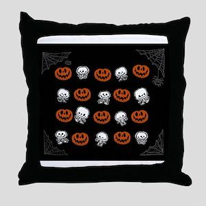 Little skeletons and PumpkinsThrow Pillow