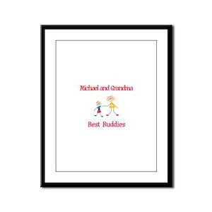 Michael & Grandma - Buddies Framed Panel Print