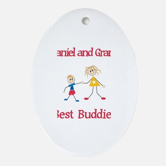 Nathaniel & Grandma - Buddies Oval Ornament