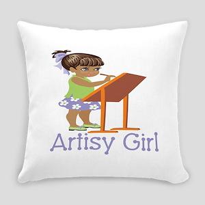 Art Girl Everyday Pillow