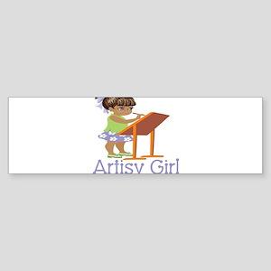 Art Girl Bumper Sticker