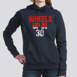 Wheels Up in 30 Women's Hooded Sweatshirt