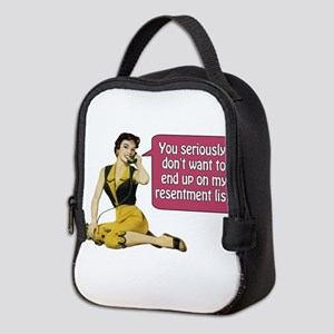 Resentment List Neoprene Lunch Bag