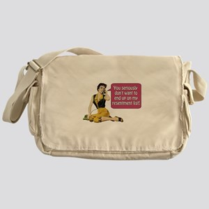 Resentment List Messenger Bag