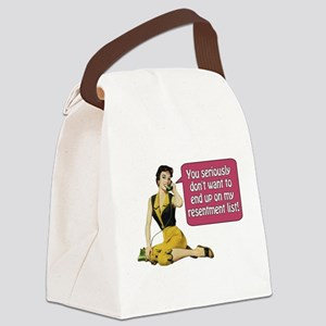 Resentment List Canvas Lunch Bag