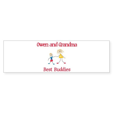 Owen & Grandma - Buddies Bumper Sticker