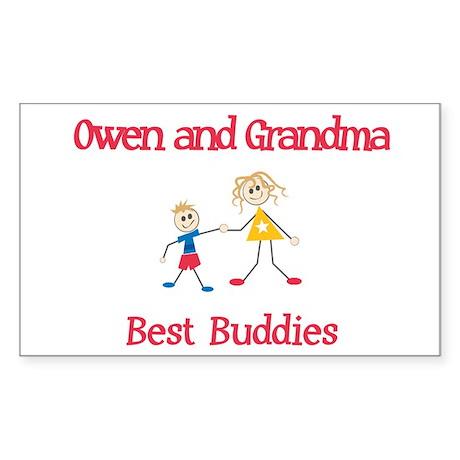 Owen & Grandma - Buddies Rectangle Sticker