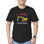 I Love Track Hoes Men's Fitted T-Shirt (dark)