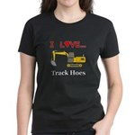 I Love Track Hoes Women's Dark T-Shirt