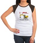 I Love Track Hoes Junior's Cap Sleeve T-Shirt