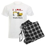 I Love Track Hoes Men's Light Pajamas