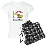 I Love Track Hoes Women's Light Pajamas