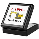 I Love Track Hoes Keepsake Box