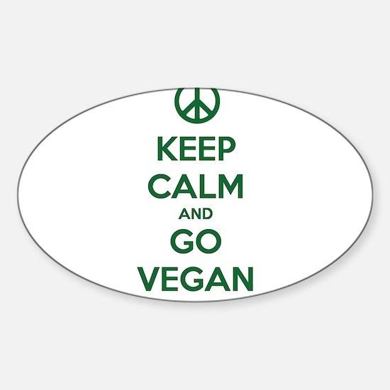 Keep Calm and GO VEGAN Decal