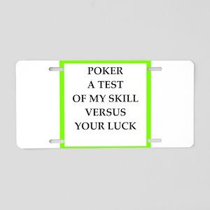 poker joke Aluminum License Plate