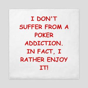 poker joke Queen Duvet