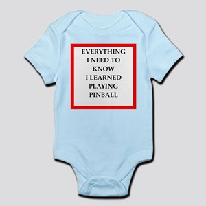 pin ball joke on gifts and t-shirts. Body Suit