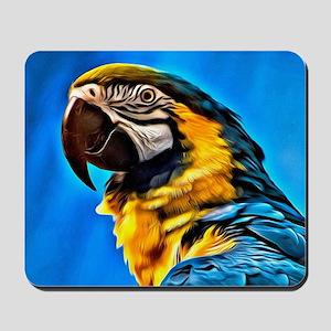 Blue Macaw Bird Mousepad