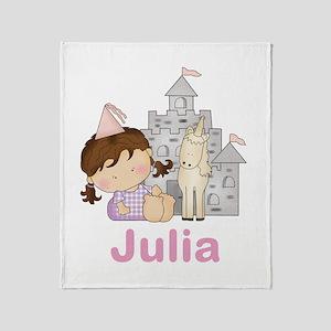 Julia's Purple Princess Throw Blanket