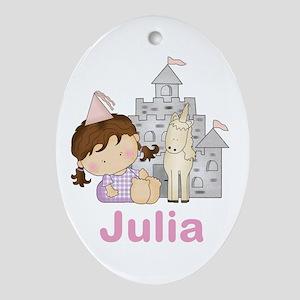 Julia's Purple Princess Oval Ornament