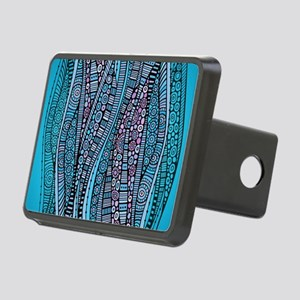 Abstract Waves Hitch Cover