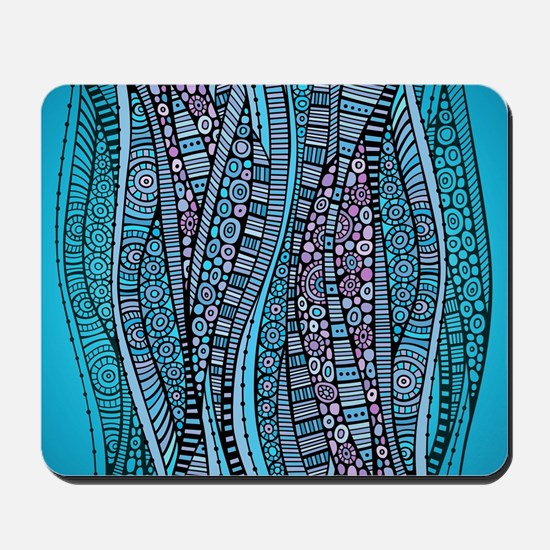 Abstract Waves Mousepad
