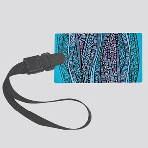 Abstract Waves Luggage Tag