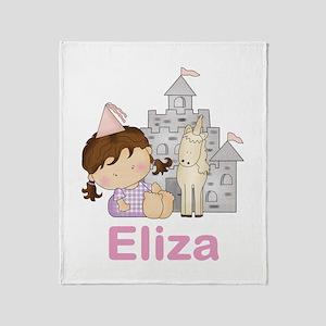 Eliza's Purple Princess Throw Blanket