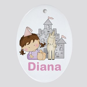 Diana's Purple Princess Oval Ornament