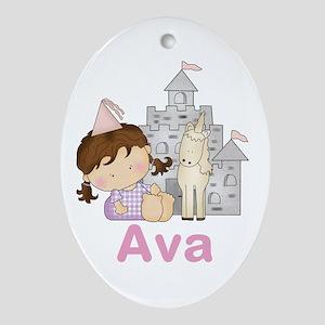 Ava's Purple Princess Oval Ornament