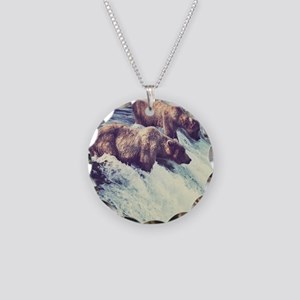 Bears Fishing Necklace