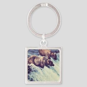 Bears Fishing Keychains