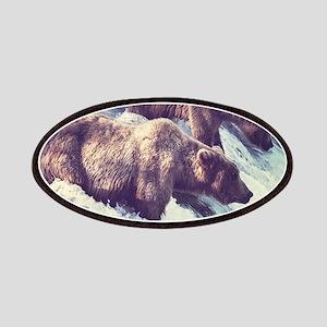 Bears Fishing Patch