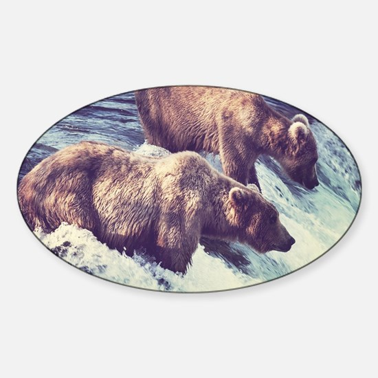 Bears Fishing Decal