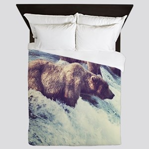 Bears Fishing Queen Duvet