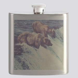 Bears Fishing Flask