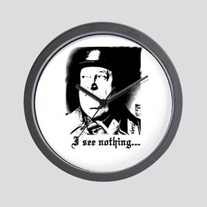 SGT> SCHULTZ I see nothing Wall Clock