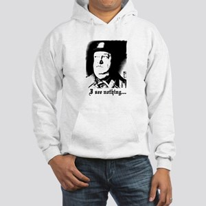 SGT> SCHULTZ I see nothing Hooded Sweatshirt