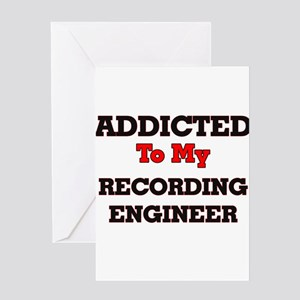 Addicted to my Recording Engineer Greeting Cards