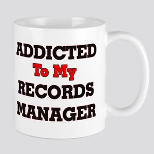 Addicted to my Records Manager Mugs