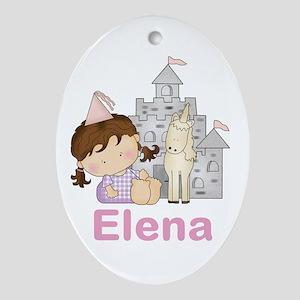 Elena's Purple Princess Oval Ornament