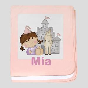 Mia's Purple Princess baby blanket