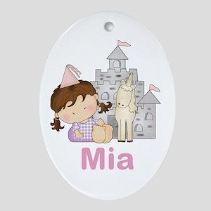 Mia's Purple Princess Oval Ornament